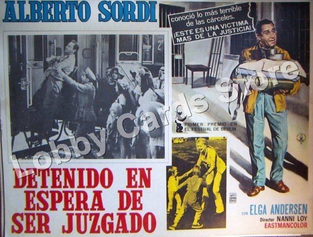 ALBERTO SORDI-/ ARRESTED IN ESPARA OF BEING JUDGED