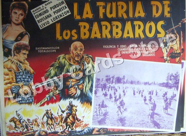 EDMUNDO PURDOM-/ THE FURY OF THE BARBARIANS